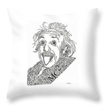 Einsteined. Throw Pillow