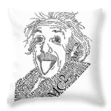 Einsteined. Throw Pillow