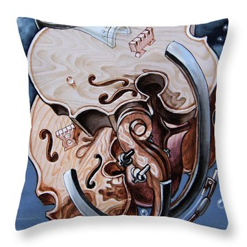Einstein's Violin. Op.2763 Throw Pillow