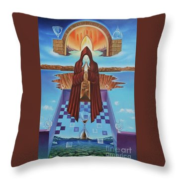 El Camino De La Luz Throw Pillow