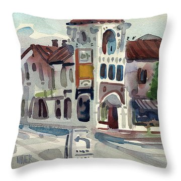 El Camino Real In San Carlos Throw Pillow by Donald Maier