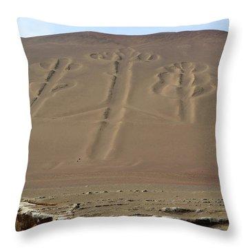 Throw Pillow featuring the photograph El Candelabro by Aidan Moran