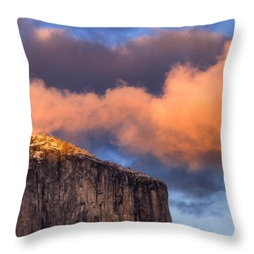El Cap Glow Throw Pillow