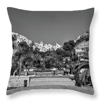 El Capistrano, Nerja Throw Pillow by John Edwards