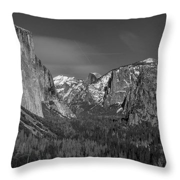 El Capitan And Half Dome Throw Pillow