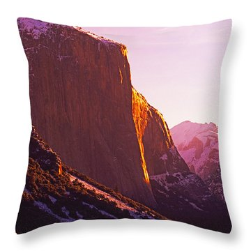 El Capitan And Half Dome, Yosemite N.p. Throw Pillow