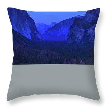 El Capitan Blue Hour Throw Pillow