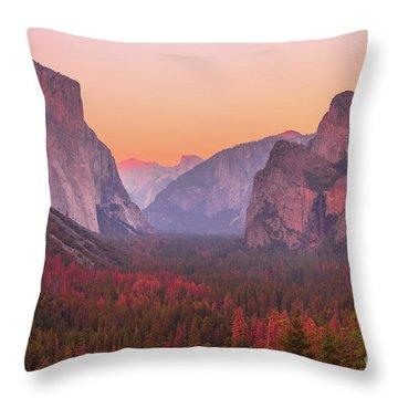 El Capitan Golden Hour Throw Pillow