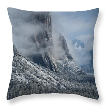 El Capitan In Clouds Throw Pillow