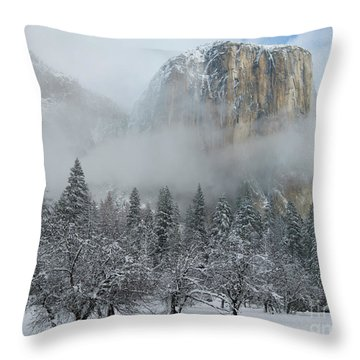 Throw Pillow featuring the photograph El Capitan Majesty - Yosemite Np by Sandra Bronstein