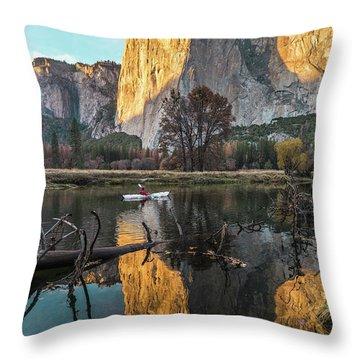 El Capitan Sunset Throw Pillow by Alpha Wanderlust
