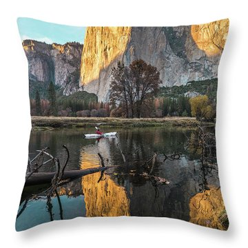 El Capitan Sunset Throw Pillow