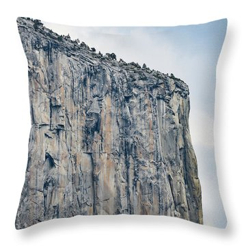 El Capitan Up Close And Personal From Tunnel View Yosemite Np Throw Pillow