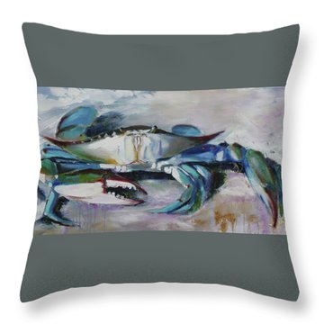 El Chapo Blue Crab Of The Chesapeake Throw Pillow