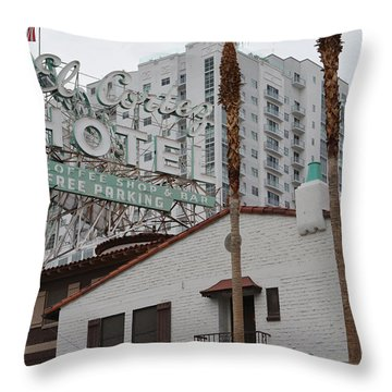 El Cortez Hotel Las Vegas Throw Pillow