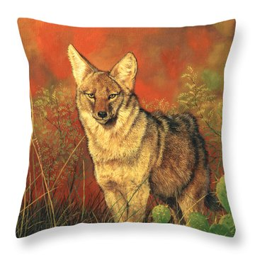 El Coyote Throw Pillow