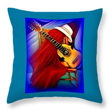 El Cuatro De Papi Throw Pillow by Yolanda Rodriguez