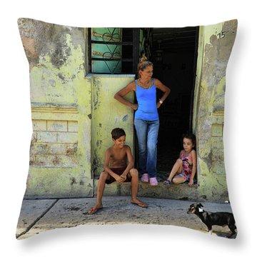 El Familia Throw Pillow
