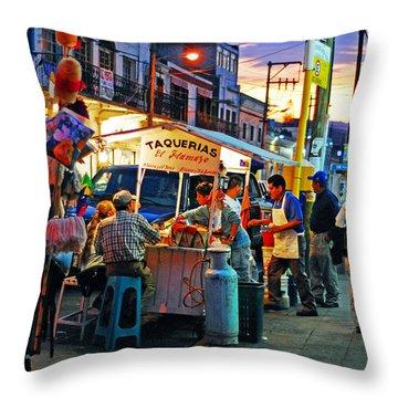 El Flamazo Throw Pillow by Skip Hunt