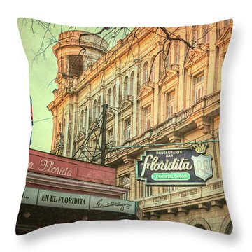 El Floridita Havana Cuba Throw Pillow