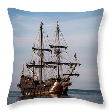 Throw Pillow featuring the photograph El Galeon Andalucia by Dale Kincaid