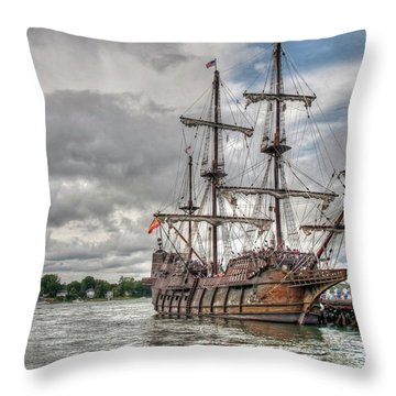 El Galeon Andalucia In Portsmouth Throw Pillow