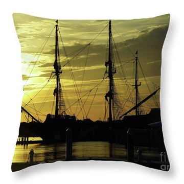 El Galeon Sunrise Throw Pillow by D Hackett