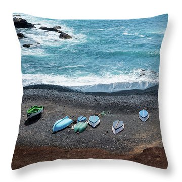 Throw Pillow featuring the photograph El Golfo by Delphimages Photo Creations