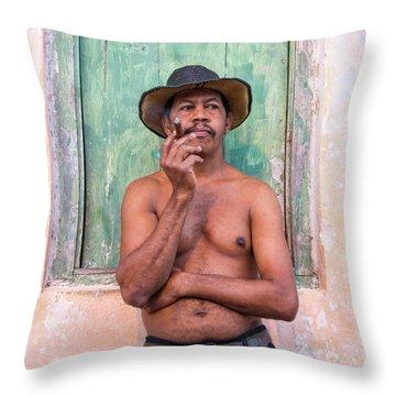 El Hombre Throw Pillow