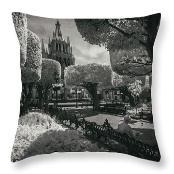 el Jardin Throw Pillow