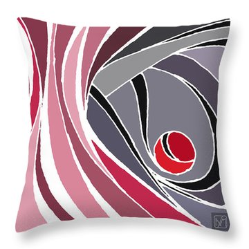 el MariAbelon red Throw Pillow