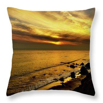 El Matador Beach Sunset Throw Pillow
