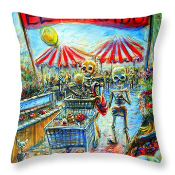 El Mercado Throw Pillow by Heather Calderon
