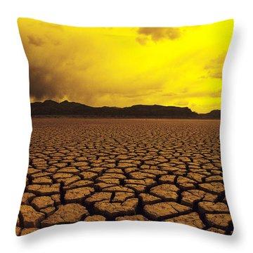 El Mirage Desert Throw Pillow by Larry Dale Gordon - Printscapes