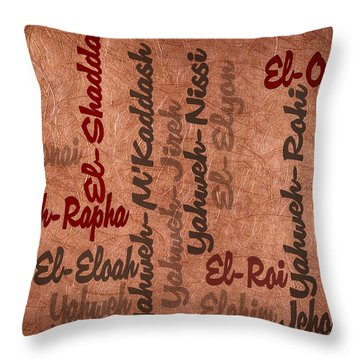 Throw Pillow featuring the digital art El-olam by Angelina Vick