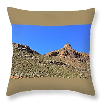Throw Pillow featuring the photograph El Paso's  Pali - No. 2016 by Joe Finney
