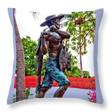 El Pescador Throw Pillow by Jim Walls PhotoArtist