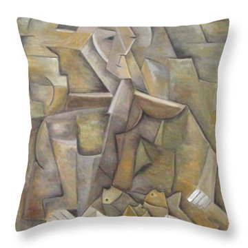 El Pescador Throw Pillow by Trish Toro
