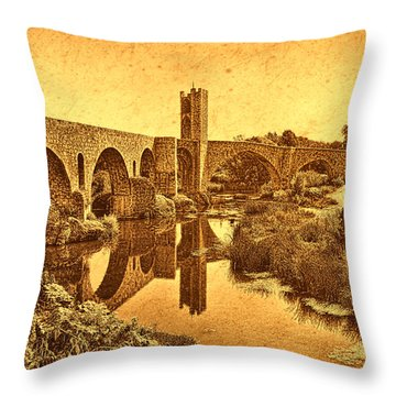 El Pont Viel Throw Pillow