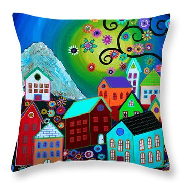 Mi Pueblo Divino Throw Pillow