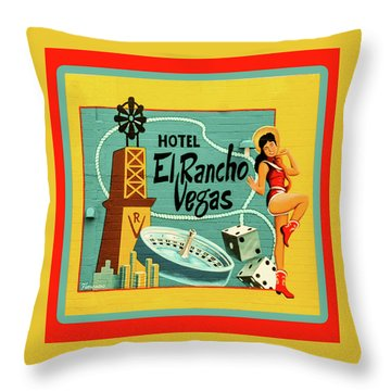 Throw Pillow featuring the photograph El Rancho by Jeff Burgess