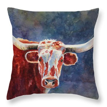 el rey... Longhorn Throw Pillow