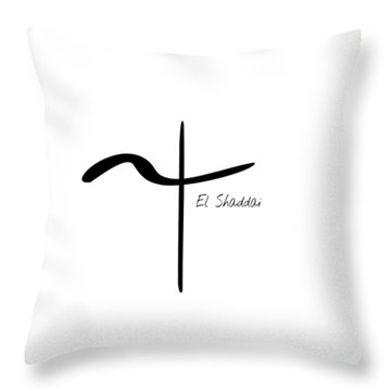 El Shaddai Throw Pillow