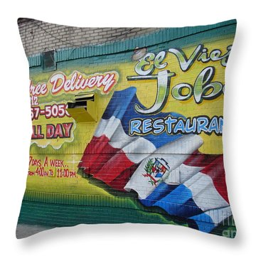 Throw Pillow featuring the photograph El Viejo Jobo  by Cole Thompson