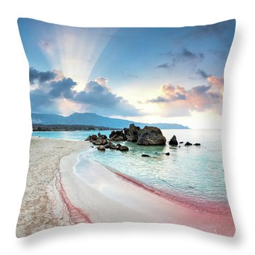 Elafonissi Beach Throw Pillow by Evgeni Dinev