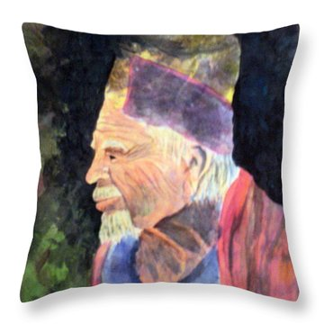 Elder Throw Pillow by Susan Kubes