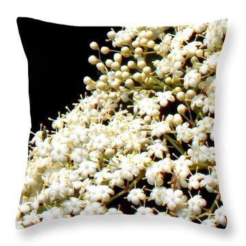 Elderflower Tree Throw Pillow