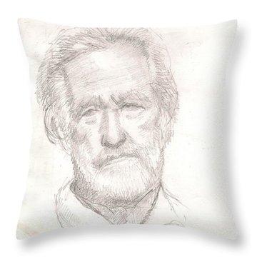Elderly Man Throw Pillow