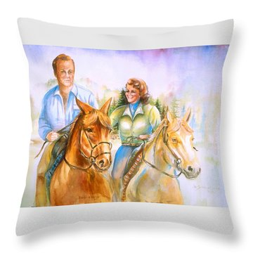 Eleanor And George Throw Pillow by Patricia Schneider Mitchell
