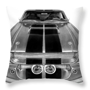 Eleanor Ford Mustang Throw Pillow by Peter Piatt